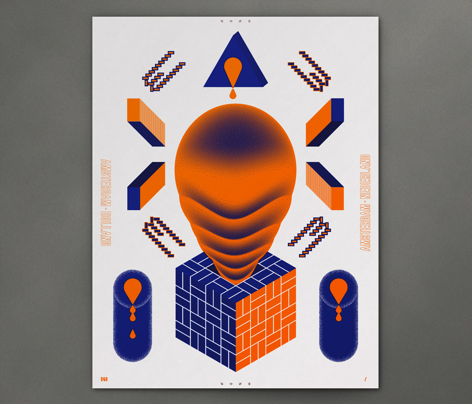 Design & Other - In Giro - Brick Croquettes - Silkscreen Print