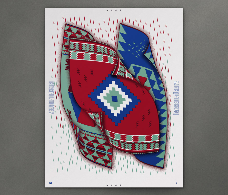 Design & Other - In Giro - Doner Carpets - Silkscreen Print