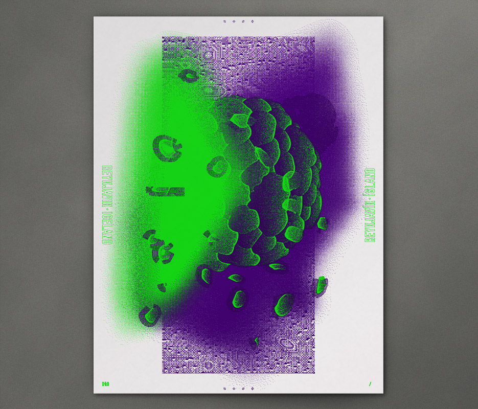 Design & Other - In Giro - Moss Covered Northern Lights - Silkscreen Print