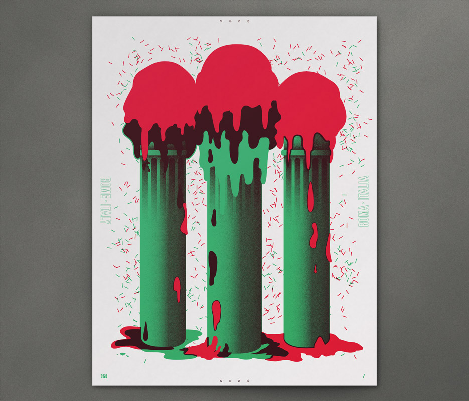 Design & Other - In Giro - Gelati Columns - Silkscreen Print