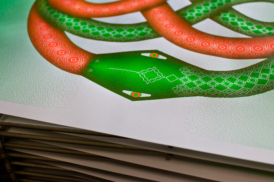 Design & Other - The Snake - Silkscreen Detail