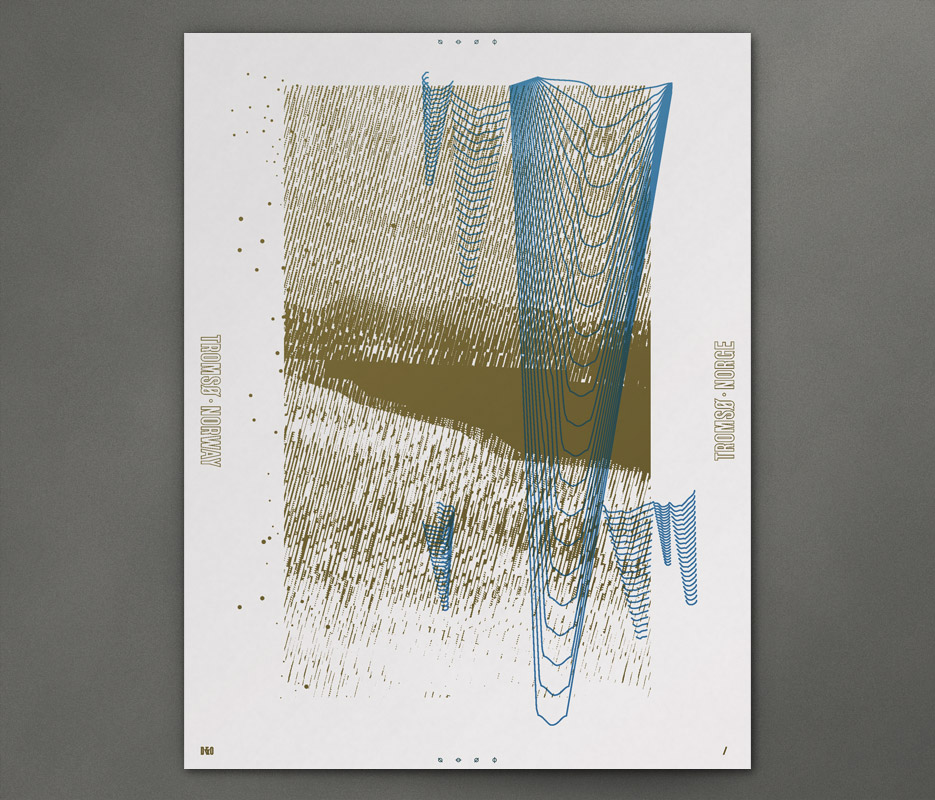 Design & Other - In Giro - Golden Lake Icicles - Silkscreen Print