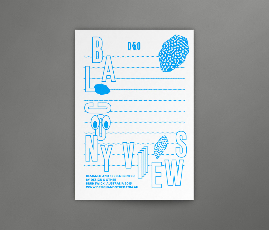 Design & Other - Balcony Views - Silkscreen Card